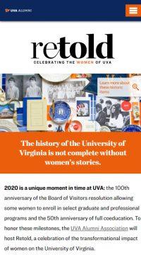 Retold – Celebrating the Women of UVA